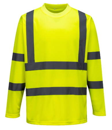 Tee-shirt HiVis S178 polyester 150g manches longues