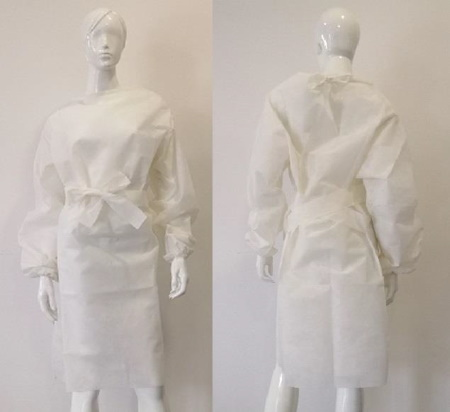 Sur-blouse polypropylène blanche