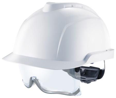 Casque V-Gard 930 non ventilé avec sur lunettes - blanc