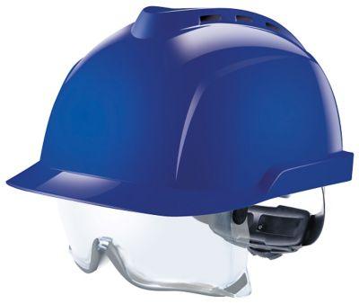 Casque V-Gard 930 ventilé, avec sur lunettes intégrées - bleu