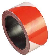 Ruban polyéthylène - rouge et blanc - 50 mm X 100 m