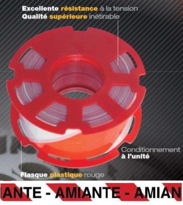 Ruban 500M pré-imprimé AMIANTE