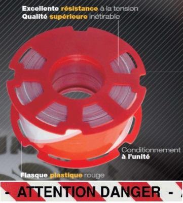 Ruban 500M pré-imprimé ATTENTION DANGER