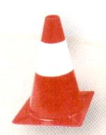 Cône de signalisation pied plastique - 30cm