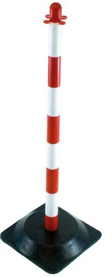 Poteau de support chaîne plastique - rouge et blanc