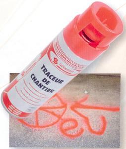 Bombe de traçage de chantier
