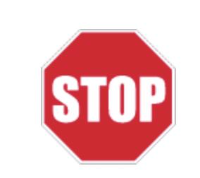 Panneau rigide STOP