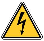 Panneau DANGER ELECTRIQUE Support adhésif