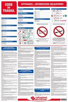 Panneau d'affichage obligatoire CODE DU TRAVAIL