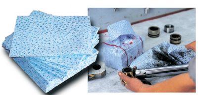 Feuille pour essuyage industriel, pur fibre de polypropylène ESF010