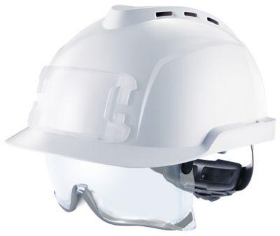 Casque V-Gard 930 ventilé, sur lunettes, porte-badge - blanc