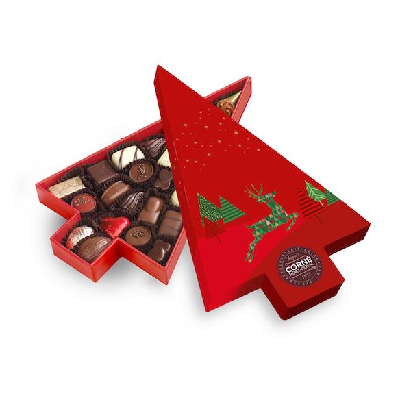 Boîte Sapin de Noël garnie<br> 23 chocolats