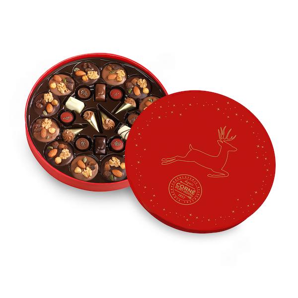Boîte ronde - Grand Modèle <br>  garnie 26 chocolats