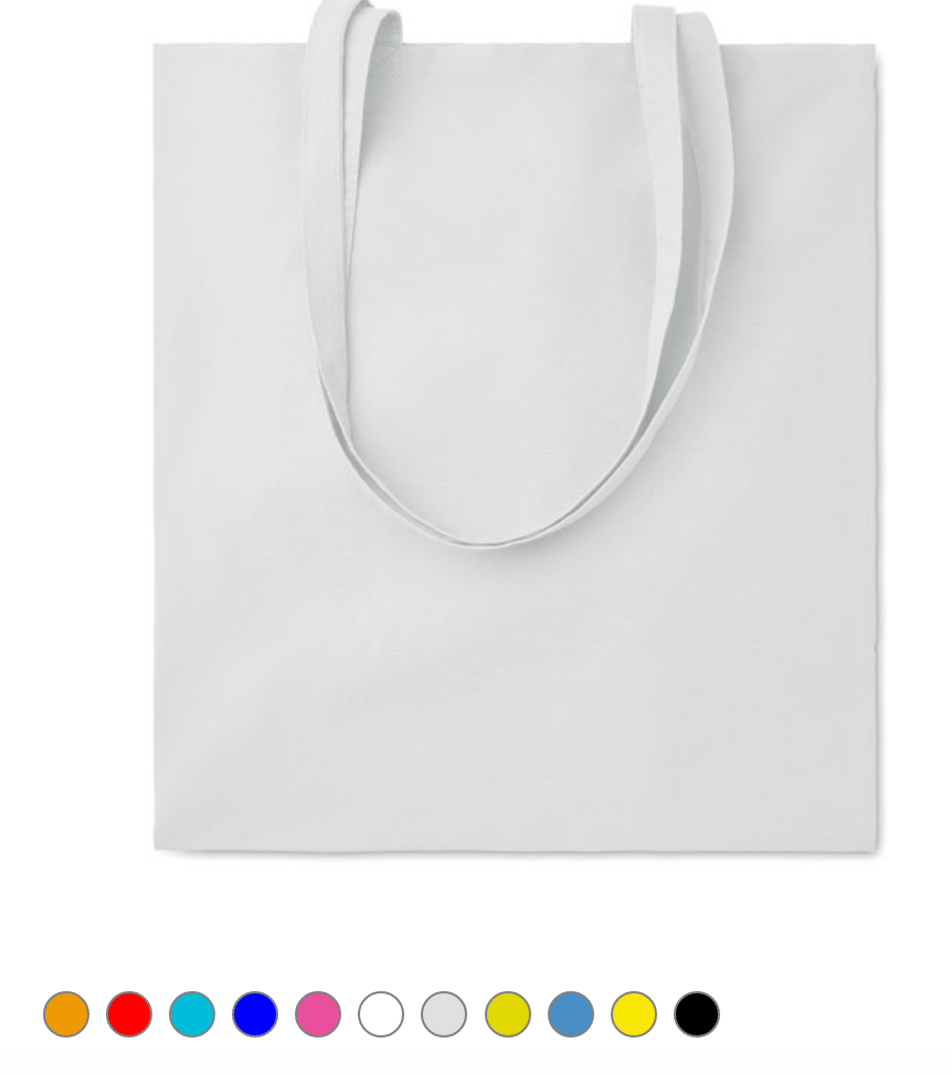 Tote bag en coton coloré  38x42 - 105g