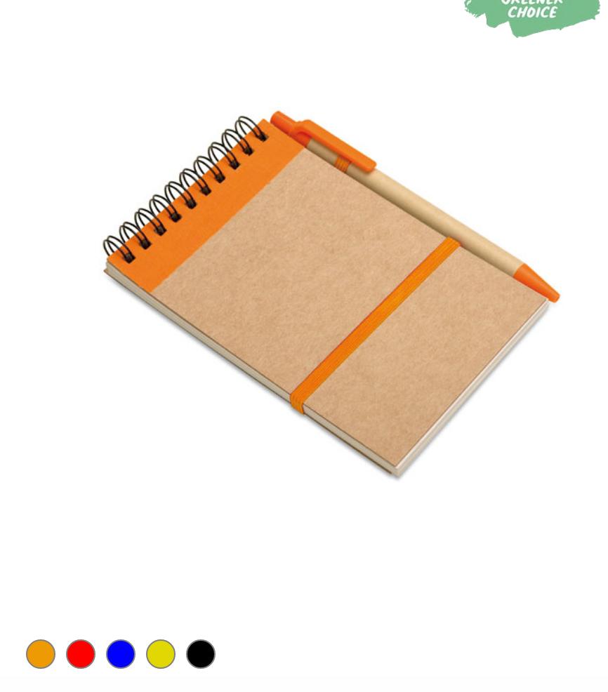 Un bloc-notes  70 pages en blanc papier recyclé