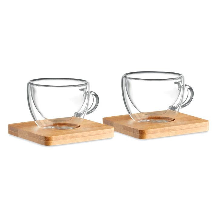 Duo de 2 verres à expresso à double paroi