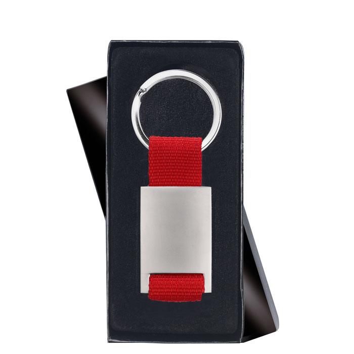 Porte-clés rectangulaire en alliage de zinc