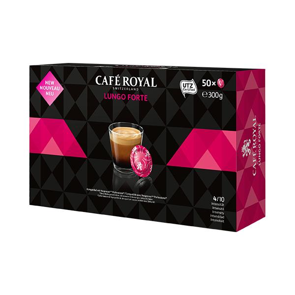 50 Caspules Lungo Forte CAFE ROYAL