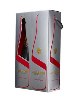 Coffret champagne MUMM Cordon Rouge 2 bouteilles 75 cl (avec une cordelette)