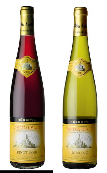 Coffret 2 bouteilles rouge et blanc <br><b>Région d'Alsace : mis en bouteille à la Propriété</b>