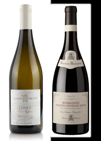 Coffret 2 bouteilles blanc et rouge <br><b>Région de Bourgogne : mis en bouteille à la Propriété</b>
