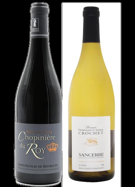 Coffret 2 bouteilles rouge et blanc <br><b>Région de la Loire : mis en bouteille à la Propriété</b>