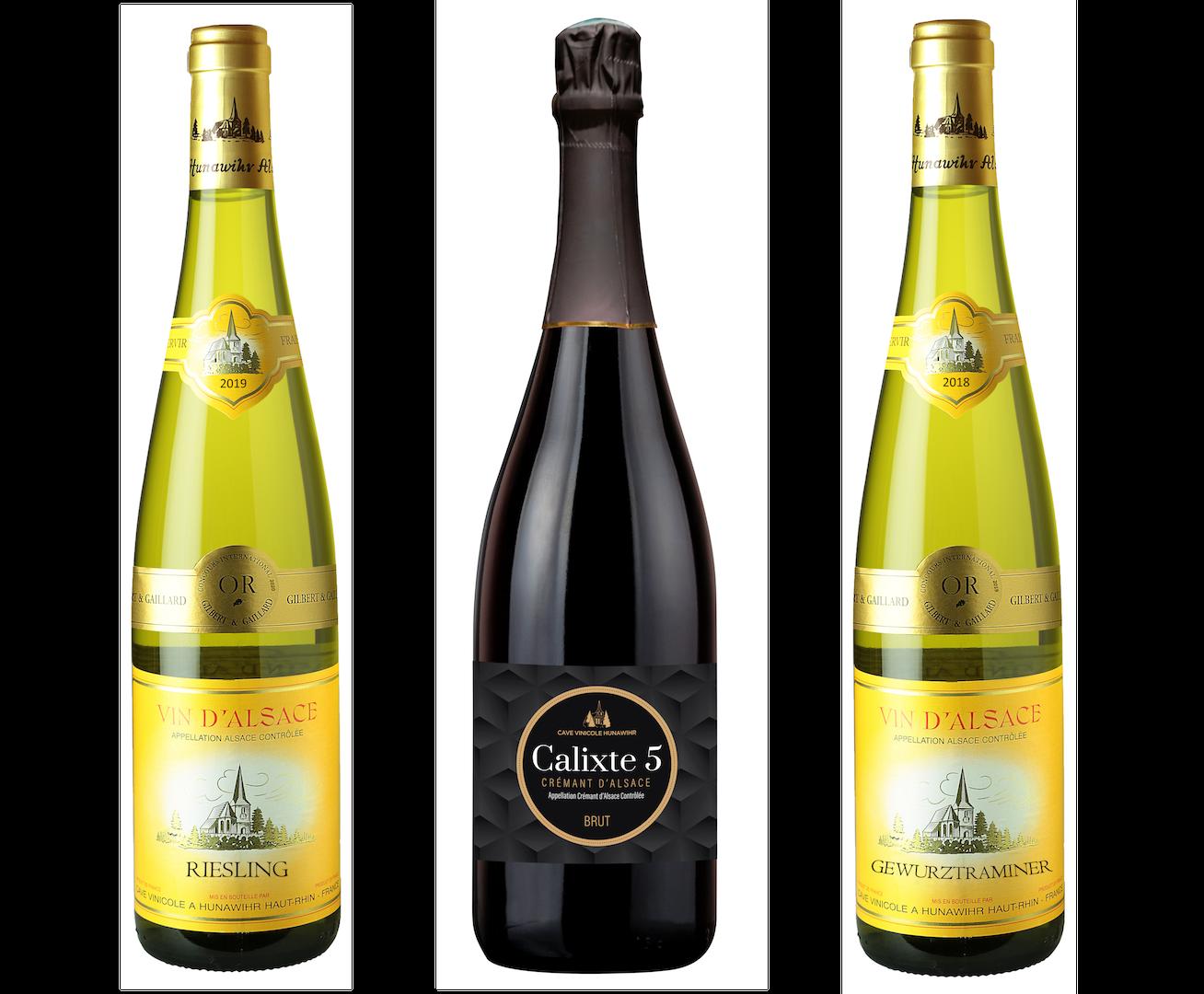Coffret 3 bouteilles blancs <br><b>Région d'Alsace : mis en bouteille à la Propriété</b>