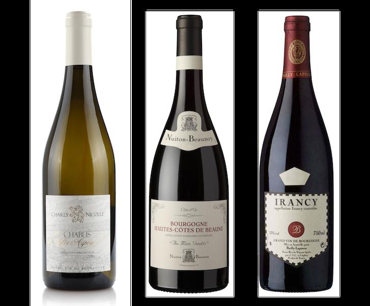 Coffret 3 bouteilles blanc et rouges <br><b>Région de Bourgogne : mis en bouteille à la Propriété</b>
