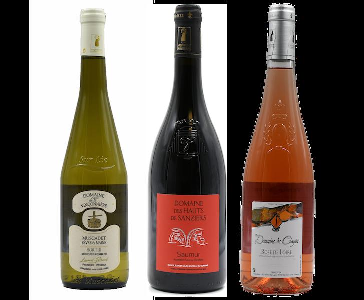 Coffret 3 bouteilles rouge, blanc, rosé <br><b>Région de la Loire : mis en bouteille à la Propriété</b>