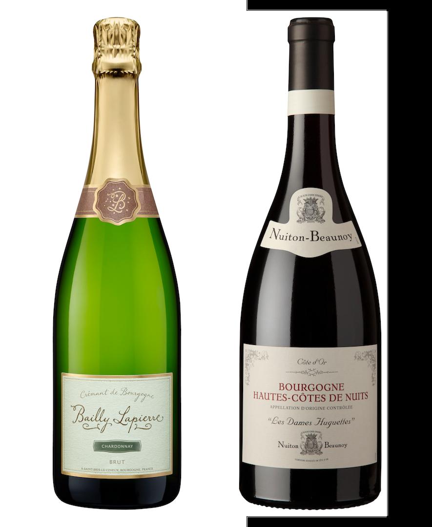 Coffret 2 bouteilles<br><b> 1 rouge + 1 Crémant</b>