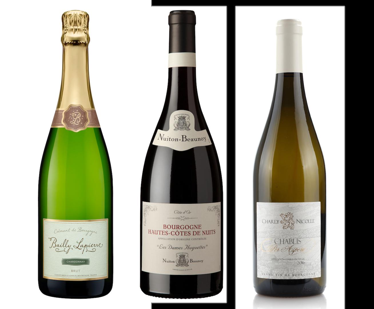 Coffret 3 bouteilles<br><b> 1 rouge + 1 blanc + 1 Crémant</b>