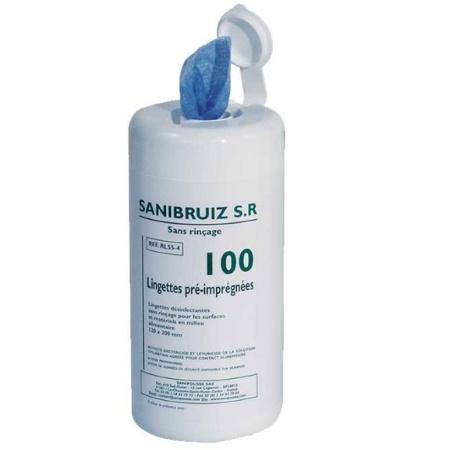 Boîte de 100 Lingettes désinfectantes Sanibruiz SR3