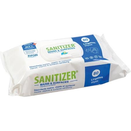 Lingettes désinfectantes Sanitizer paquet de 80