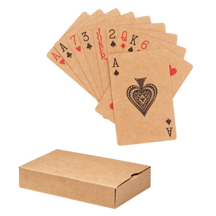 Cartes à jouer classiques en papier recyclé dans une boîte en papier recyclé