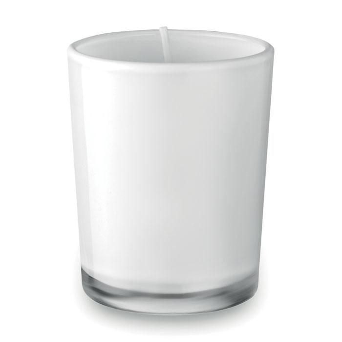 Bougie parfumée dans un verre coloré