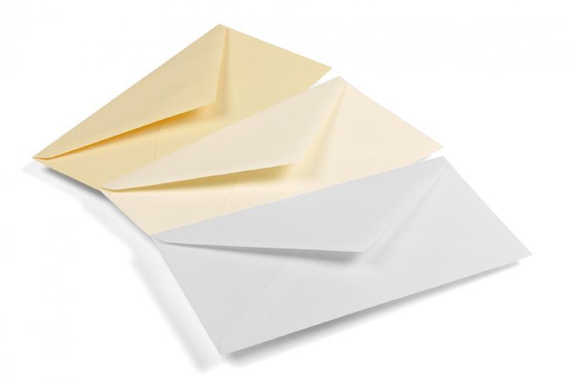 <b>Enveloppes</b> 11x23 cm (DL) impression une couleur 90g